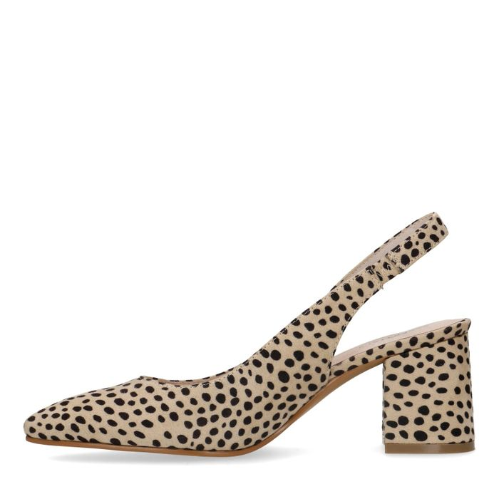Slingback-Pumps mit Gepardenmuster