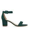 Grüne Sandaletten mit Schnalle