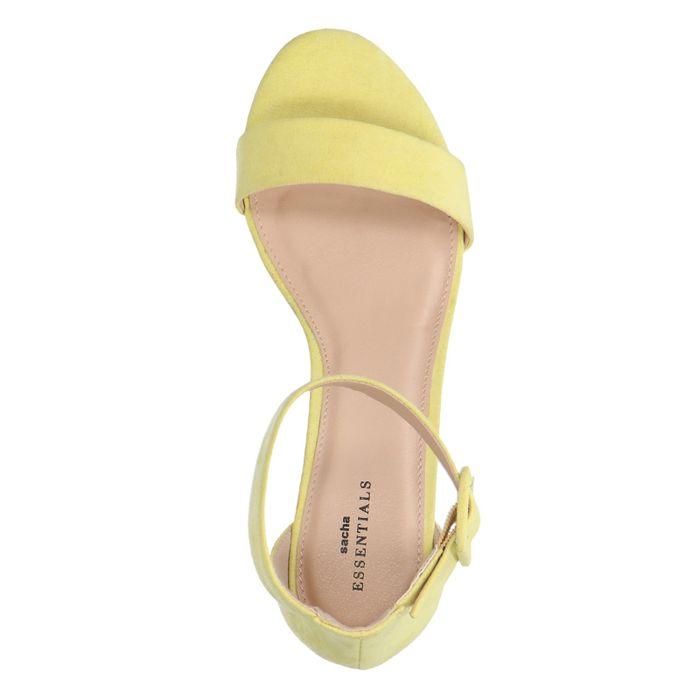 Gelbe Sandaletten