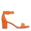 Orangefarbene Sandaletten