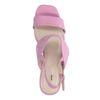 Rosafarbene Sandaletten mit Blockabsatz