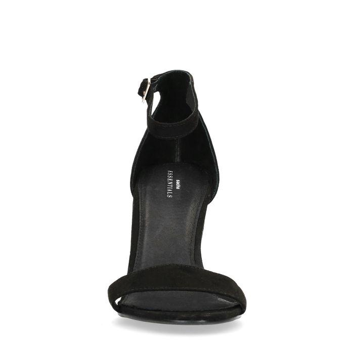 Schwarze Lack-Sandaletten