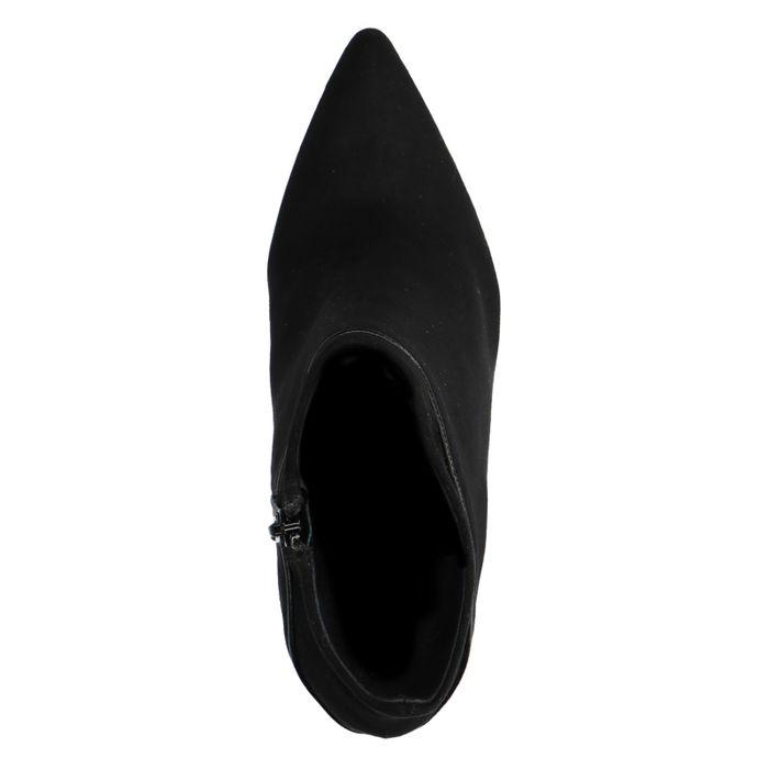 Schwarze Absatz-Stiefeletten