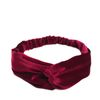 Bandeau en velours - bordeaux