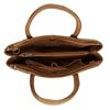 Sac à main en cuir avec motif peau de serpent - cognac