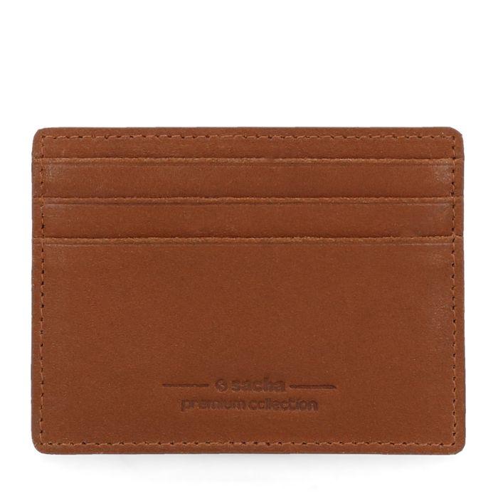 Porte-cartes en cuir - marron
