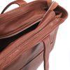 Cabas en cuir avec compartiment ordinateur portable - marron