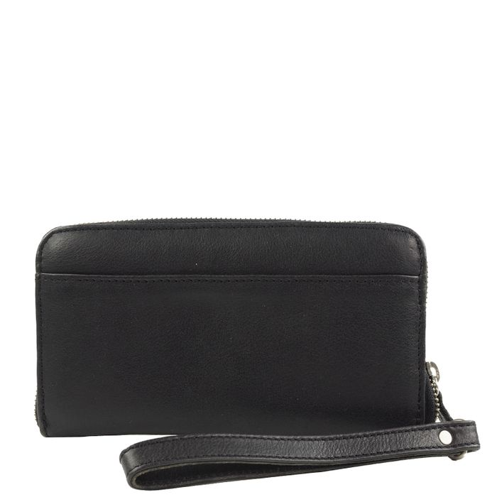 Portefeuille en cuir - noir