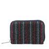Petit portefeuille avec paillettes et rayures