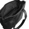 Cabas en cuir avec compartiment ordinateur portable - noir