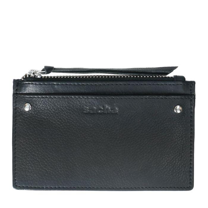 Porte-monnaie en cuir - noir