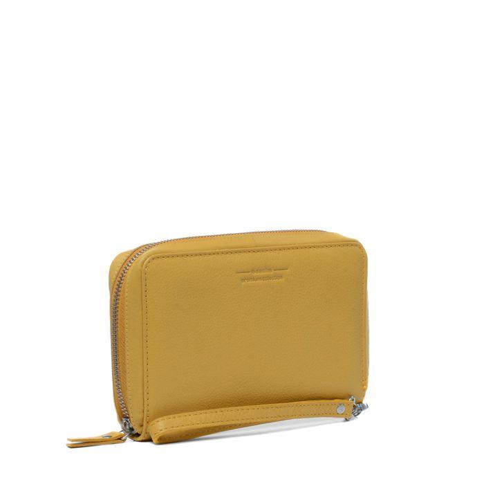 Portefeuille en cuir - jaune