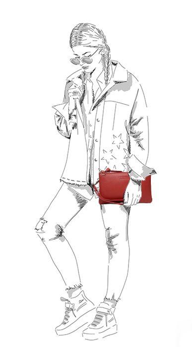 Petit sac clutch - rouge
