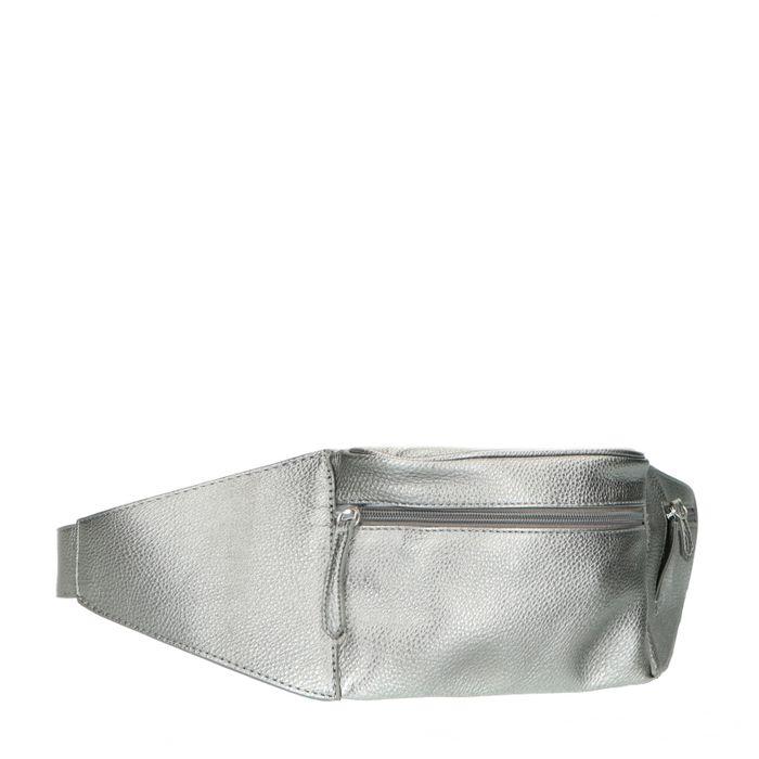 Sac ceinture avec détail croco - argenté