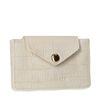 Porte-monnaie avec imprimé croco - blanc cassé