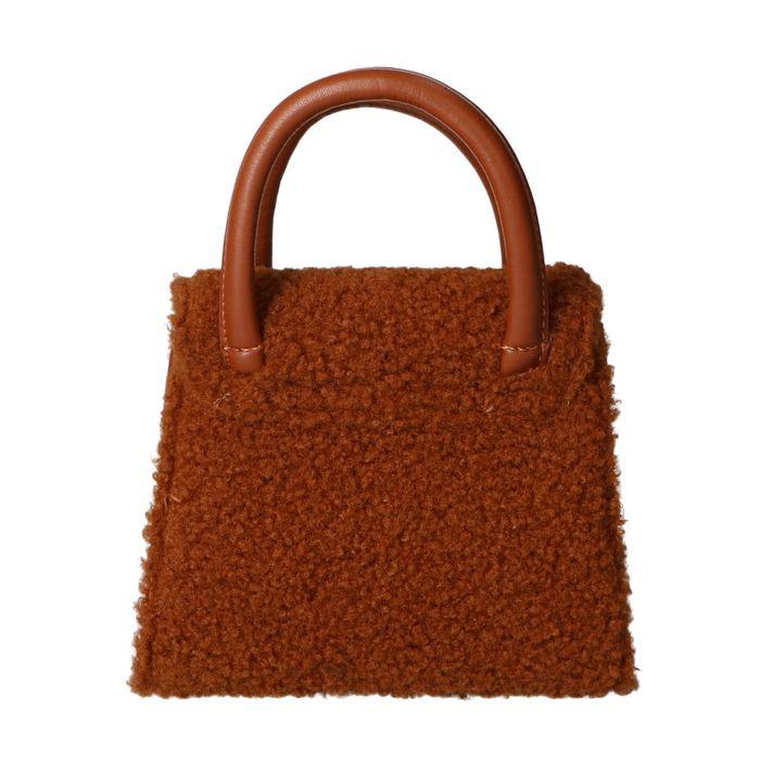 Mini sac duveteux - camel