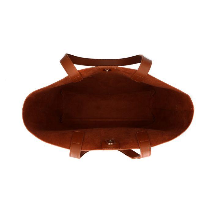 Cabas avec compartiments avant - marron