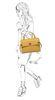 Sac bandoulière avec détails dorés - jaune