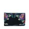 Petit portefeuille avec fleurs - noir