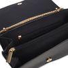 Sac bandoulière avec chaîne dorée - noir