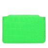 Porte-monnaie avec imprimé croco - vert
