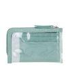 Porte-cartes avec mini sac transparent - vert
