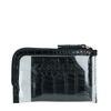 Porte-cartes avec mini sac transparent - noir