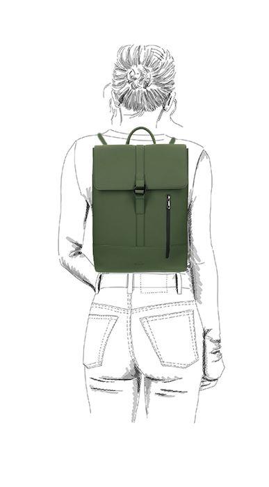 Sac à dos avec étui pour ordinateur portable - vert