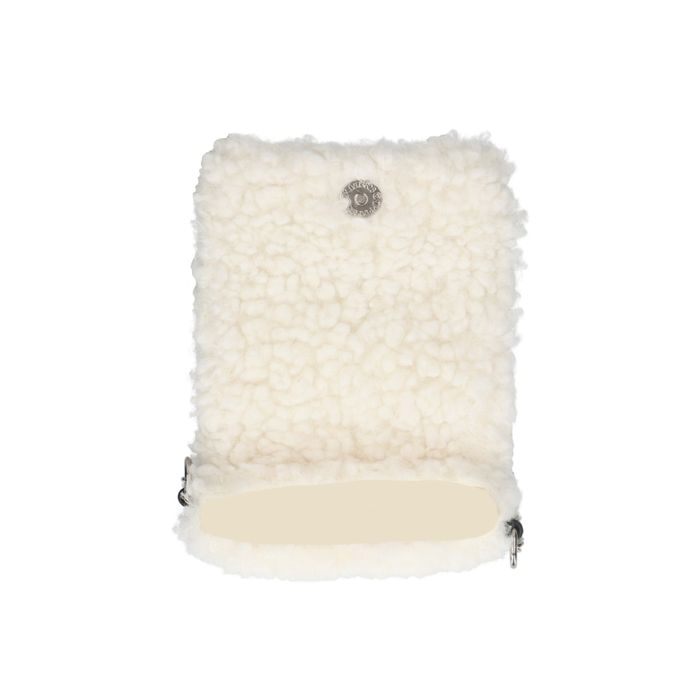 Petit sac duveteux pour téléphone - blanc cassé