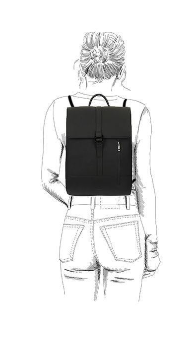 Sac à dos avec étui pour ordinateur portable - noir