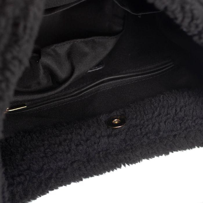 Cabas duveteux - noir