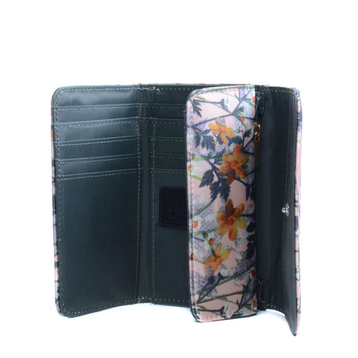 Petit portefeuille avec fleurs - rose
