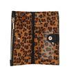 Portefeuille avec imprimé léopard - noir
