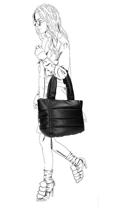 Sacha x Vivian Cabas en cuir - noir