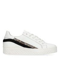 afda579ab0e Witte platform sneakers met snakeskin details 99,99