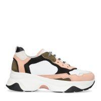 c3863261010 Witte dad sneakers met roze details 99,99