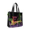 Schwarzer Shopper mit Neon-Graffiti