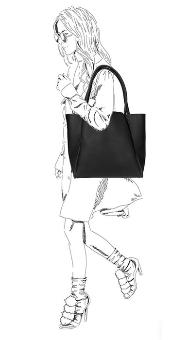 Schwarzer Shopper