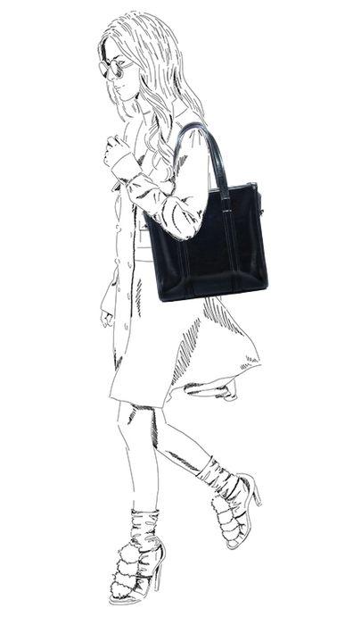 Schwarze Lack-Schultertasche