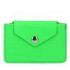 Grünes Portemonnaie mit Krokomuster