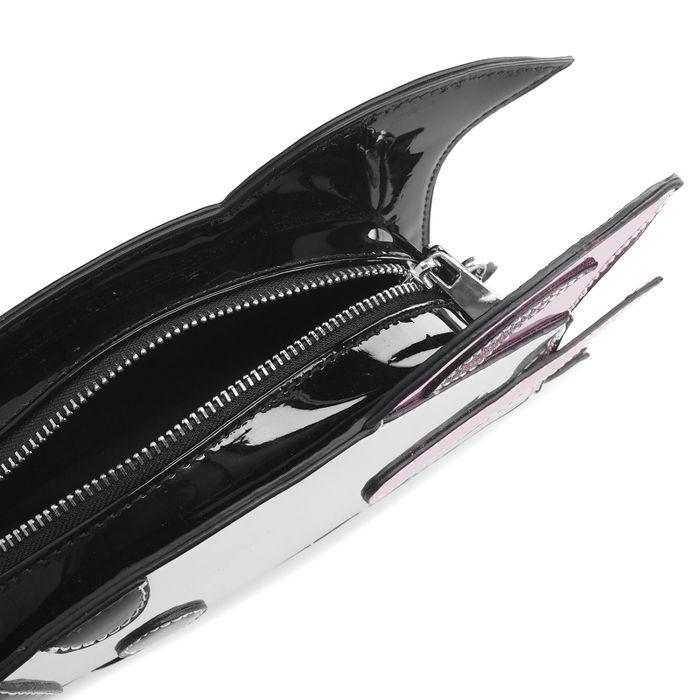 Silberne Schultertasche in Raketen-Form
