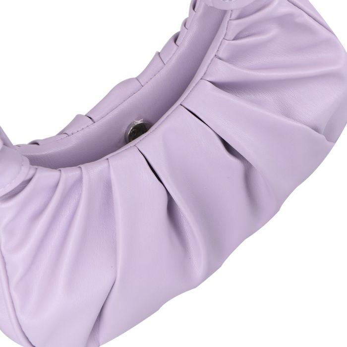 Lila Schultertasche mit Falten-Details