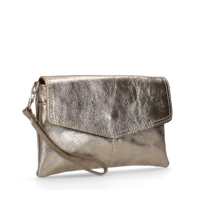 Bronzefarbene Metallic-Clutch