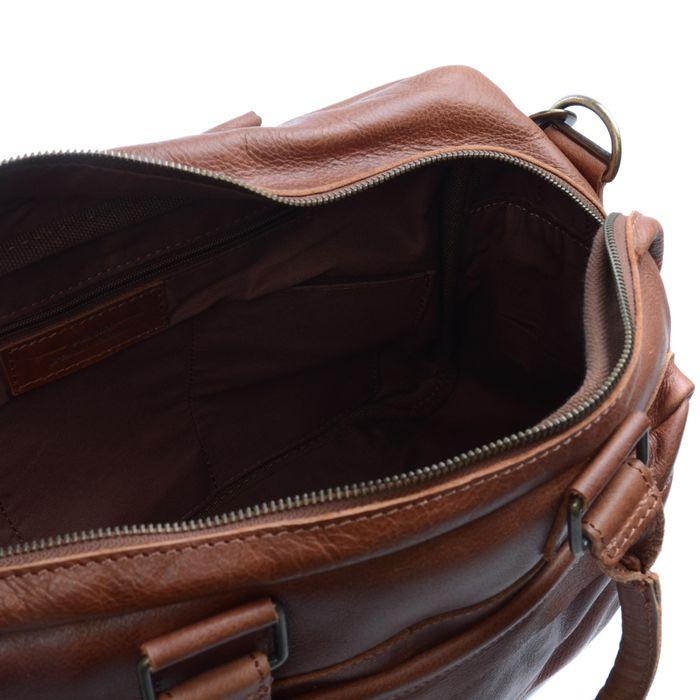 Cognacfarbene Lederhandtasche