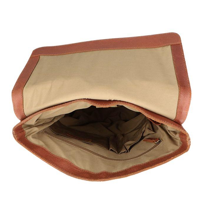 Cognacfarbener Rucksack mit Laptopfach