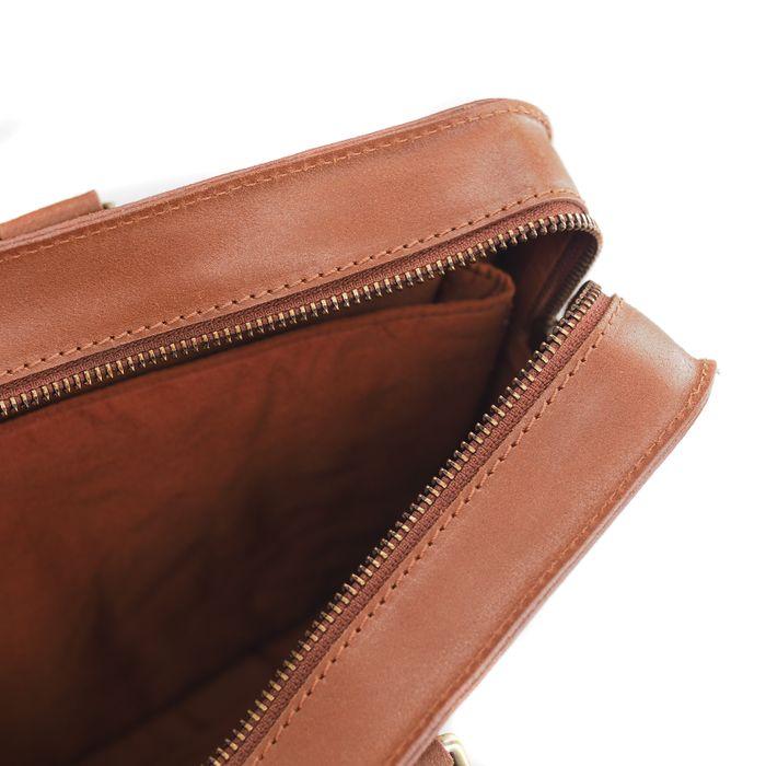 Braune Laptoptasche aus Leder