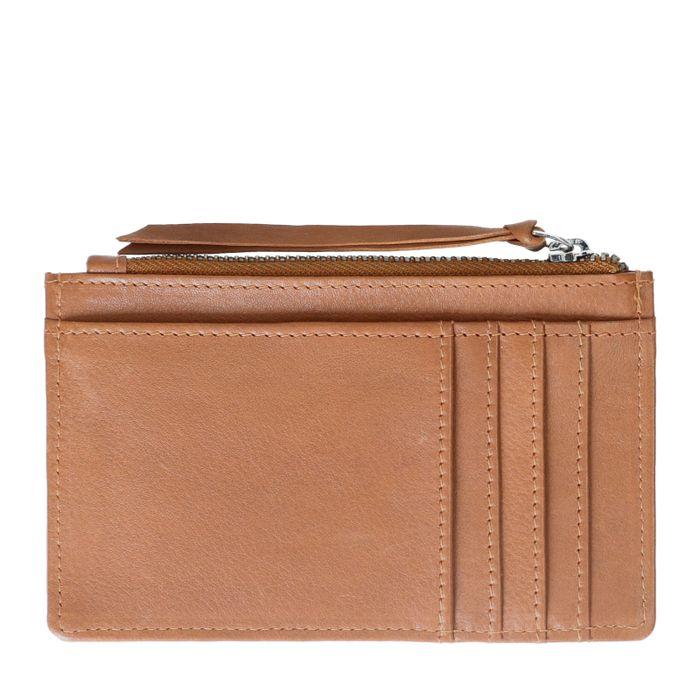 Cognacfarbenes Leder-Portemonnaie