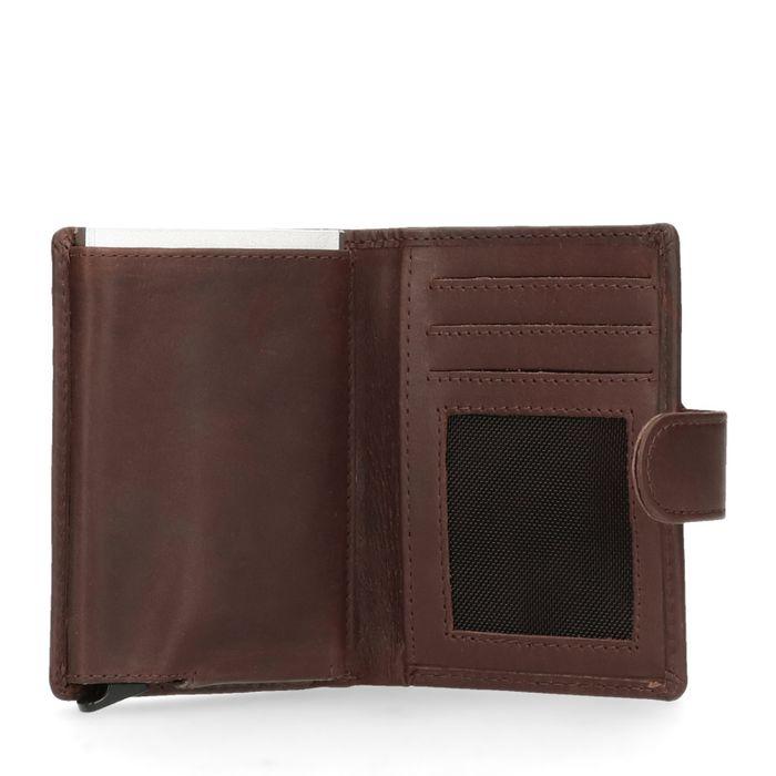 Dunkelbraunes Portemonnaie mit Kartenschutz