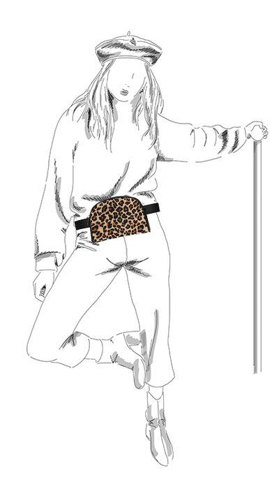Gürteltasche mit Leopardenmuster