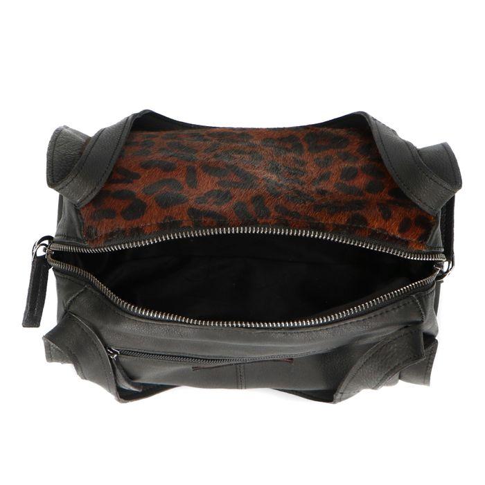 6967793cd69cb2 Schwarze Handtasche in Fell-Optik - Taschen – SACHA